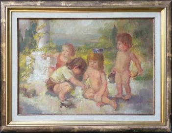 Anica Zupanec Sodnik - Otroci pri igri